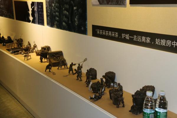 博物馆展示品铜雕